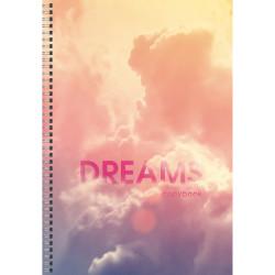 "Тетрадь 60л А4 клетка/гребень ""Dream world. Дизайн 3"" ТС4604702 Listoff"