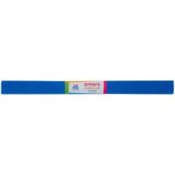 Бумага креповая в рулоне ArtSpace  50*200 см, 30 г/м2, растяжение 50%, синяя GA18912
