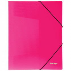 "Папка на резинках BERLINGO ""Neon"" А4, 500мкм, неон розовый ANp_01813"