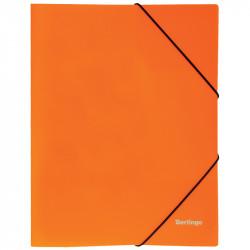 """Папка на резинках BERLINGO """"Neon"""" А4, 500мкм, неон оранжевый ANp_01804"""