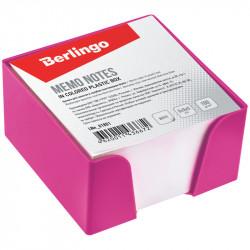 Блок для записей в пласт. розов. боксе Berlingo 9*9*5см белый LNn_01813