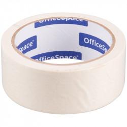 Клейкая лента бумажная 38мм*25м, белая OfficeSpace КЛ_18611
