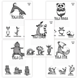 "Тетрадь 24л А5 клетка ""Animals Yoga"" 24Т5В1 (105425) Хатбер"