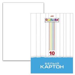 "Картон белый А4 10л мелованный 2-х стор. ""Сreative Set"" 10Кб4_05806(N049716) Хатбер"
