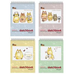 """Блокнот 60л А5 """"Sketchbook"""" гребень, 100г/м2 23c7 Полином"""