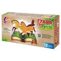 """Гуашь Луч """"Zoo"""" 12цв 15мл 20С1356-08 блок-тара в карт.уп."""
