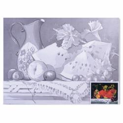 "Холст грунтованный на картоне (30*40см) 280г/м2, мелкое зерно, хлоп конт ""натюрморт""190626 Brauberg"