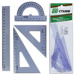 Геометрический набор 4пред. прозрачный тонированный средний НГ03 Стамм