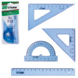 Геометрический набор 4пред. прозрачный малый НГ01 Стамм