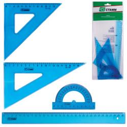 Геометрический набор 4пред. прозрачный большой НГ05 Стамм