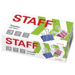 Зажим Staff Profit 32мм ассорти 225158 (1шт)