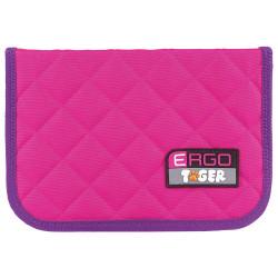"""Пенал 1 отд. 200*140*40мм """"Розовый-фиолет."""" 2 откид. планки, ткань TGRW-004C1E (226996) Tiger Family"""