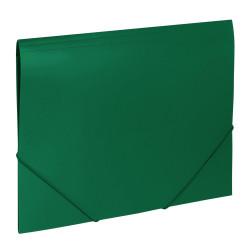 Папка на резинках BRAUBERG Office, зеленая, до 300 листов, 0,5мм, 227710