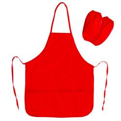Фартук с нарукав., 3 кармана, красный, 45*60см  228362 Пифагор