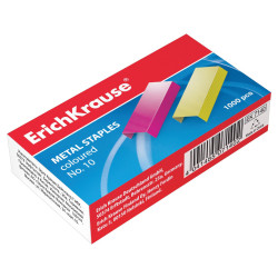 Скобы №10 Erich Krause ЕК7140 цветные