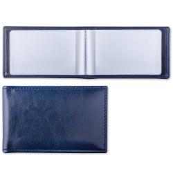 "Визитница Brauberg ""Imperial"" на 20 карт, т-синяя ""гладкая кожа"" 232060"