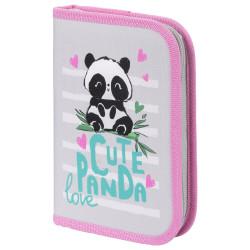 """Пенал 1 отд. 190*130мм """"Cute Panda"""", ткань 270357 Пифагор"""