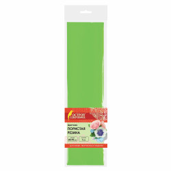Пористая резина 50*70см (фоамиран) 1мм, светло-зеленая 661682 Остров Сокровищ (1шт)