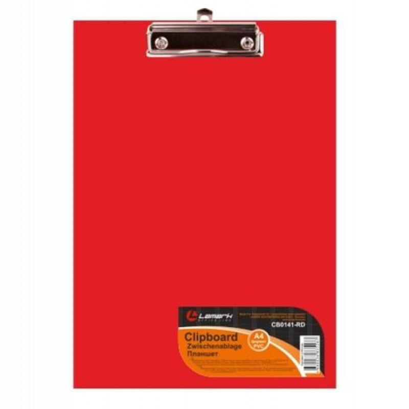 Планшет с зажимом Lamark красный PVC CB0441-RD