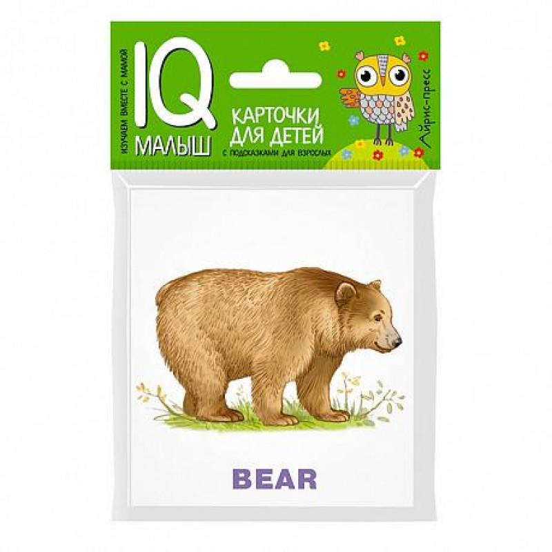 Набор карточек для детей ''Умный малыш. ENGLISH.Зоопарк.'' 25974  Айрис-Пресс