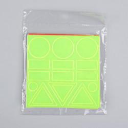Наклейка светоотражающая, 10*10см ассорти 1847934 SL