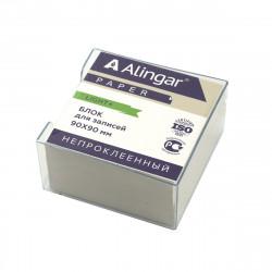 Блок для записей в пласт. боксе Alingar 9*9*4.5см белый AL7259