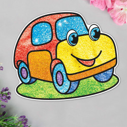 "Фреска-картина из песка ""Машинка"" с блест. 1104995 Школа Талантов SL"