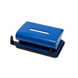 Дырокол 10л Alingar пласт., синий, с линейкой AL5523