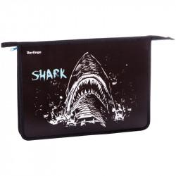 """Папка для тетр. 1 отд., А4 """"Shark"""" пластик, на молнии PPA42028 Berlingo"""