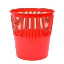 Корзина для бумаг 12л сетчатая круглая красная AL7437 Alingar