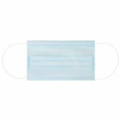 Маска медицинская одноразовая, 3-х слойная, 17*9см, на резинке, голубая 630528 SANITERRA, 1 шт.