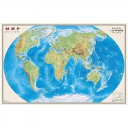 """Карта настенная """"Мир. Физ. карта"""", М-1:35млн, размер 58*90см, матов. ламин., 157 0СН1212340"""