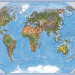 """Карта настенная """"Мир"""" физическая 1:35млн. ламин. (70*100см) 20222 Глобусный мир"""