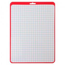 Доска д/рис маркером Calligrata А4 белая (красная рамка) клетка/линейка Д4_02 4005270