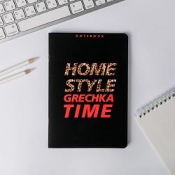 "Тетрадь 40л А5 в точку ""Home style grechka time"" софт тач 5051152 ArtFox"