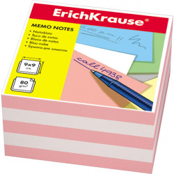 Блок для записей Erich Krause 9*9*5см персиковая ЕК6600