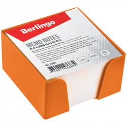 Блок для записей в пласт. оранж. боксе Berlingo 9*9*5см белый LNn_01804