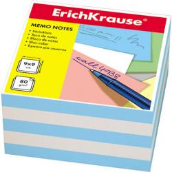 Блок для записей Erich Krause 9*9*5см голубая ЕК2723