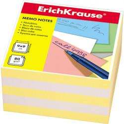 Блок для записей Erich Krause 9*9*5см жёлтая ЕК2721