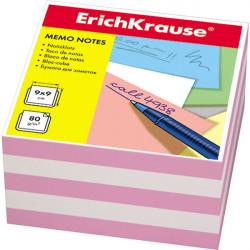 Блок для записей Erich Krause 9*9*5см розовая ЕК2719