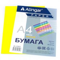 Бумага Alingar А4 70г/20л неон жел...
