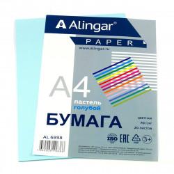 Бумага Alingar А4 70г/20л пастель голубой Al6898