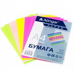 Бумага Alingar неoн mix, 70г/м2, 100л. (4 цвета) AL6894