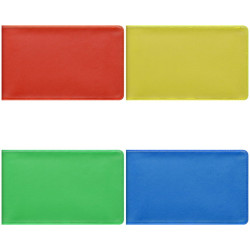 Визитница OfficeSpace на 20 карт 65*110 мм, ПВХ, ассорти 235235