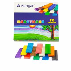 Пластилин Alingar 12цв 180г. AL6305