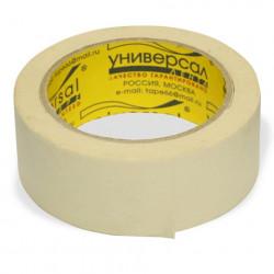 Клейкая лента бумажная 38мм*25м, белая Универсал (222438)