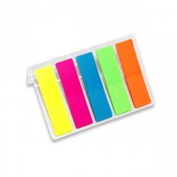 Набор самокл. закладок Alingar 12*45мм пластик (5цв. по 20л) AL3675
