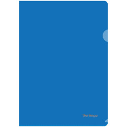 Папка-уголок А4 Berlingo плотн. пласт., 180мкм, синий AGp_04102