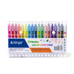 Мел цветной Alingar  1уп*18цв для лица и тела выкруч. AL4515-18/AL4520-18