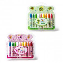 Восковые карандаши Yalong 18цв утолщ. YL95050-18